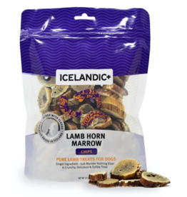 IcelandicPLUS Icelandic+ Dog Treats Lamb Horn Marrow Chips 4 oz Bag