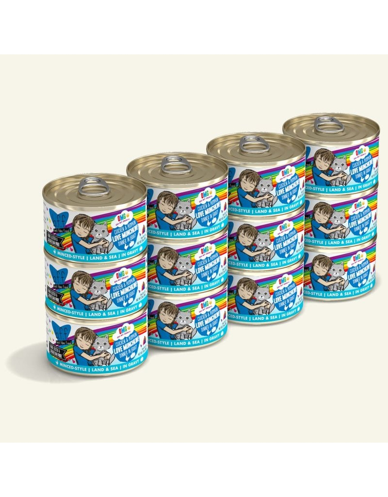 Weruva BFF OMG! Canned Cat Food CASE Love Munchkin! 2.8 oz