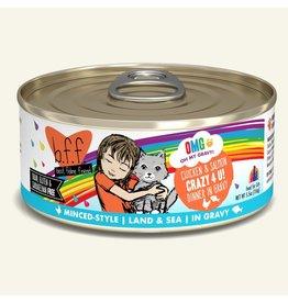 Weruva Weruva BFF OMG! Canned Cat Food | Chicken & Salmon Crazy 4 U! 5.5 oz single