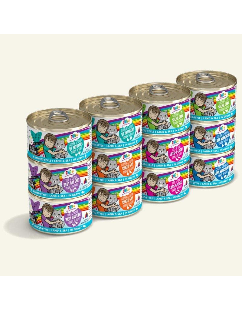Weruva BFF OMG! Canned Cat Food Rainbow Road Variety Pack 2.8 oz