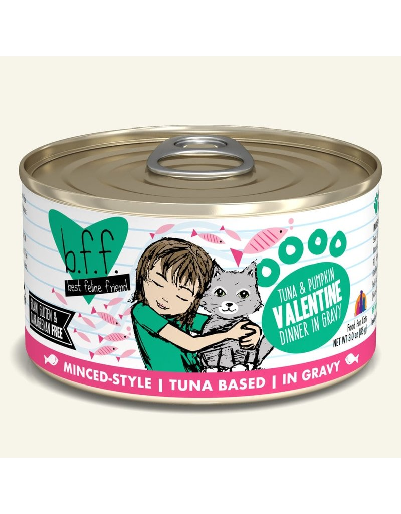 Weruva Best Feline Friend Canned Cat Food CASE Tuna & Pumpkin Valentine 3 oz