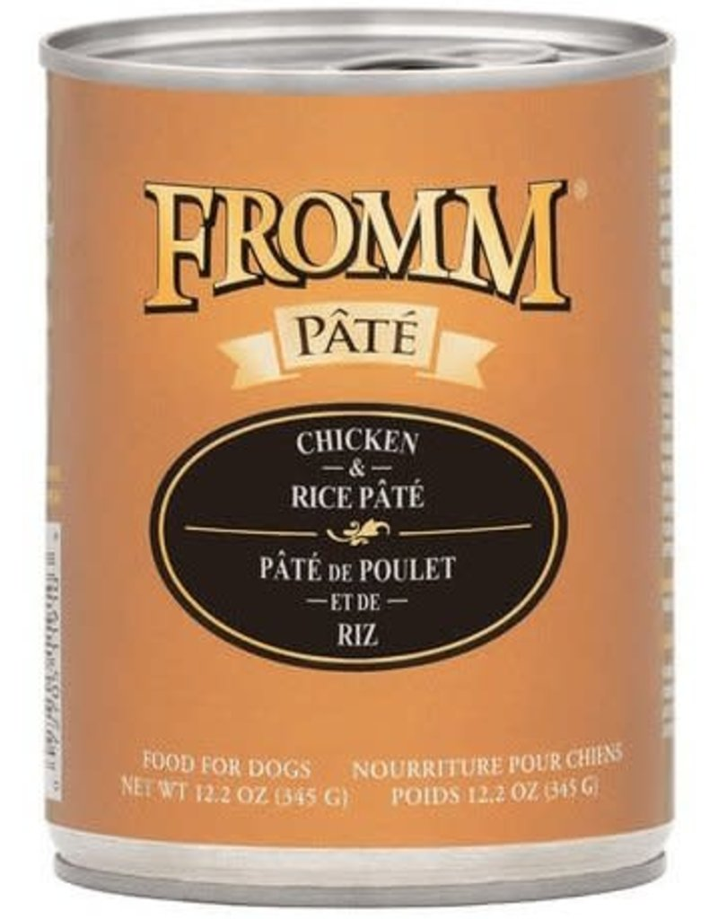 Fromm Fromm Gold Canned Dog Food Chicken & Rice Pate 12.2 oz single