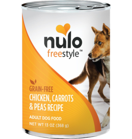 Nulo Nulo Freestyle GF Canned Dog Food CASE Chicken, Carrots & Peas 13 oz