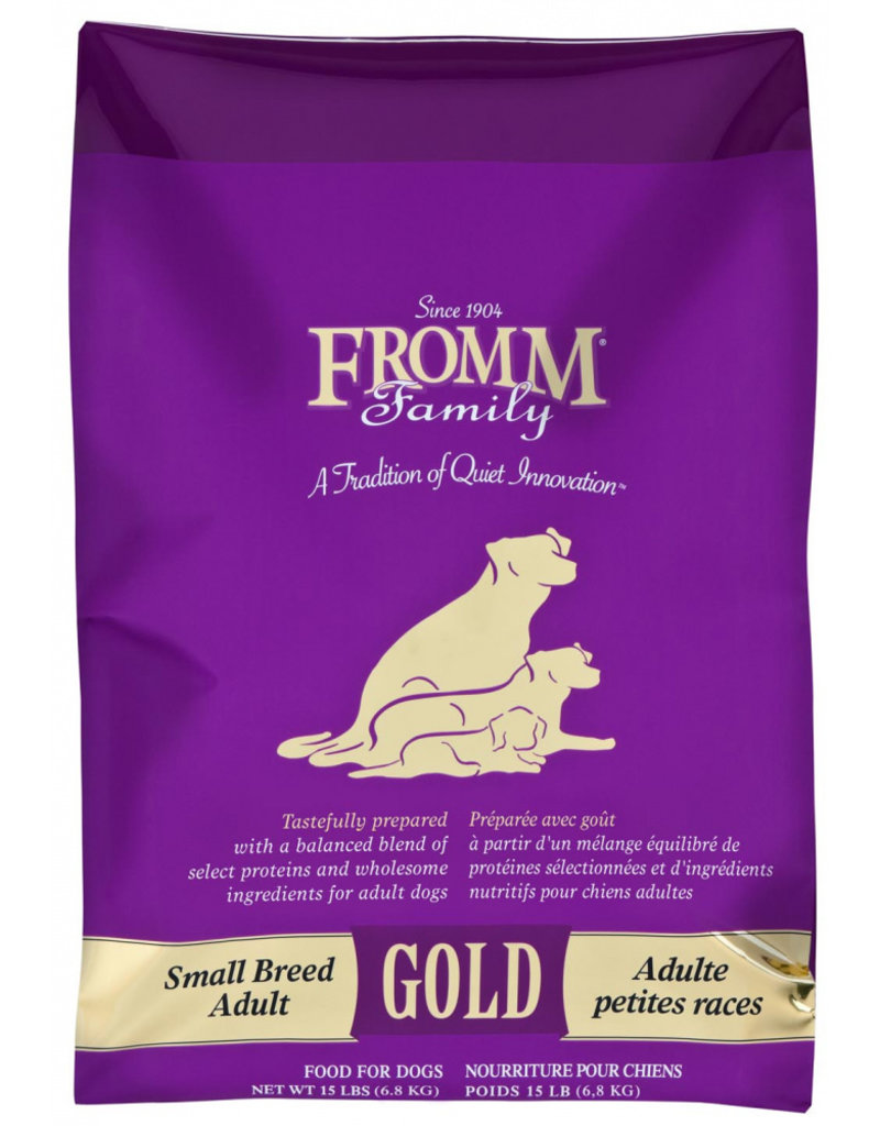 Fromm Fromm Family Gold Dog Kibble Small Breed Adult 15 lb
