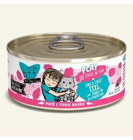 Weruva Best Feline Friend PLAY Land & Sea Pate   Tuna & Turkey TTYL Dinner in Puree 5.5 oz single