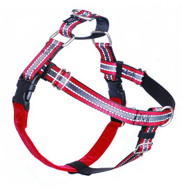 """2 hounds Design 2 Hounds Design Freedom No-Pull 5/8"""" Harness Reflective Red Small"""