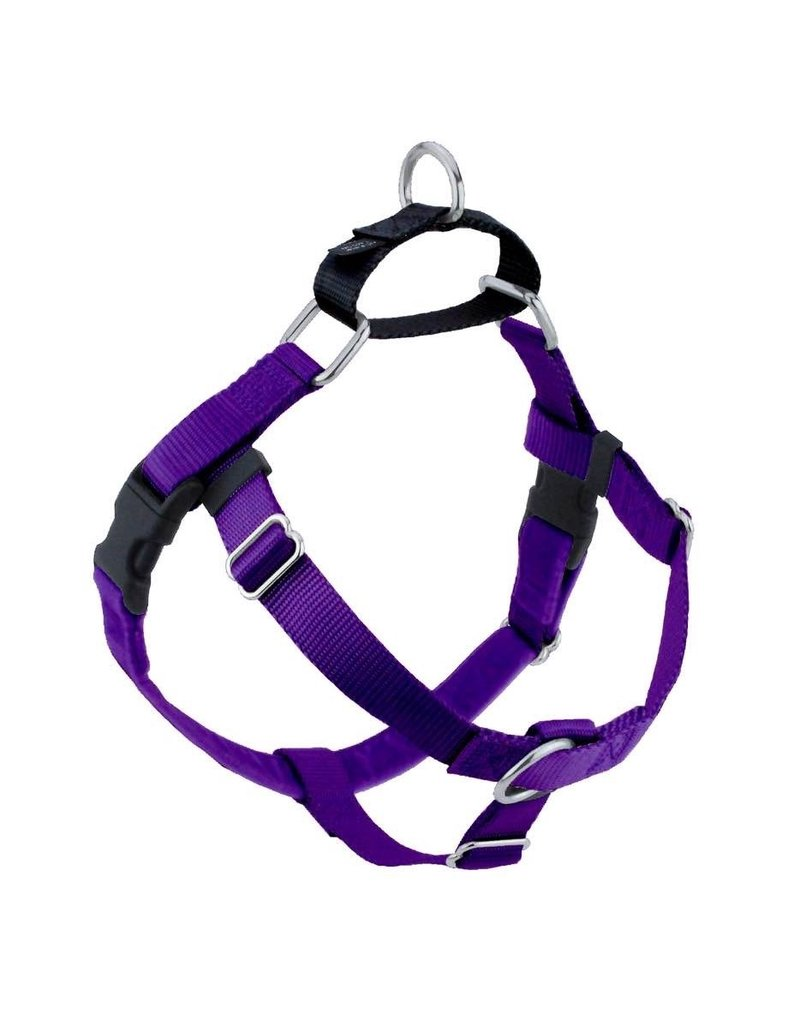 """2 hounds Design 2 Hounds Design Freedom No-Pull Harness 5/8"""" Small Purple"""