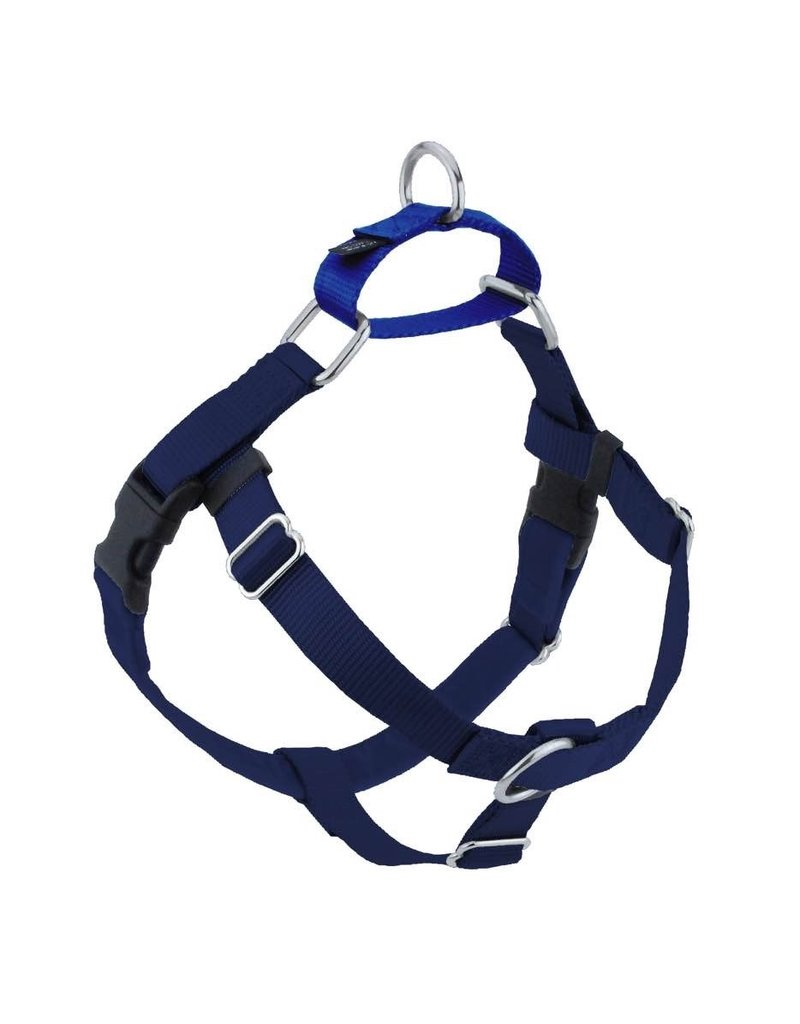 """2 hounds Design 2 Hounds Design Freedom No-Pull Harness 5/8"""" Small Navy Blue"""