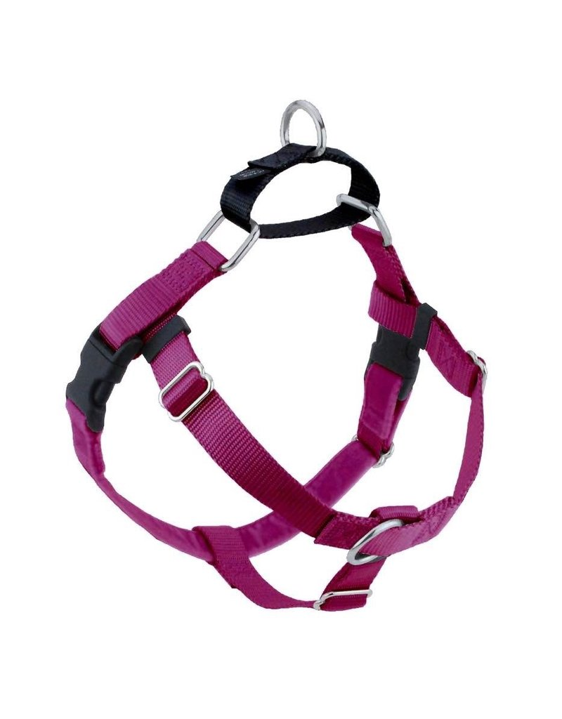 """2 hounds Design Hounds Design Freedom No-Pull Harness 5/8"""" Small Raspberry"""