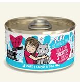 Weruva Best Feline Friend PLAY Land & Sea Pate   CASE Duck & Tuna Trickster Dinner in Puree 2.8 oz