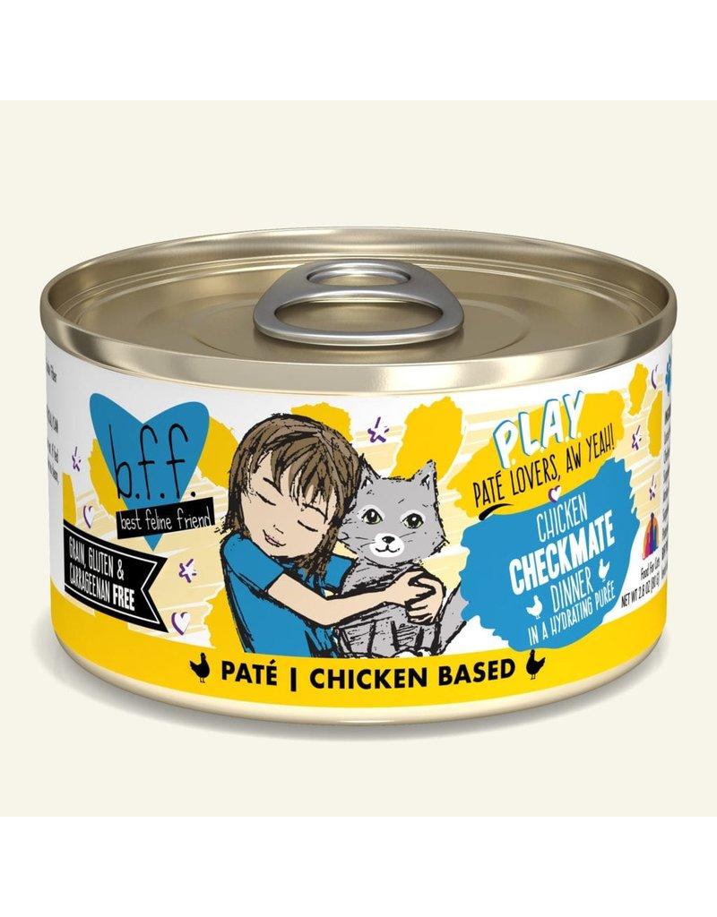 Weruva Best Feline Friend PLAY Land & Sea Pate | CASE Chicken Checkmate Dinner in Puree 2.8 oz