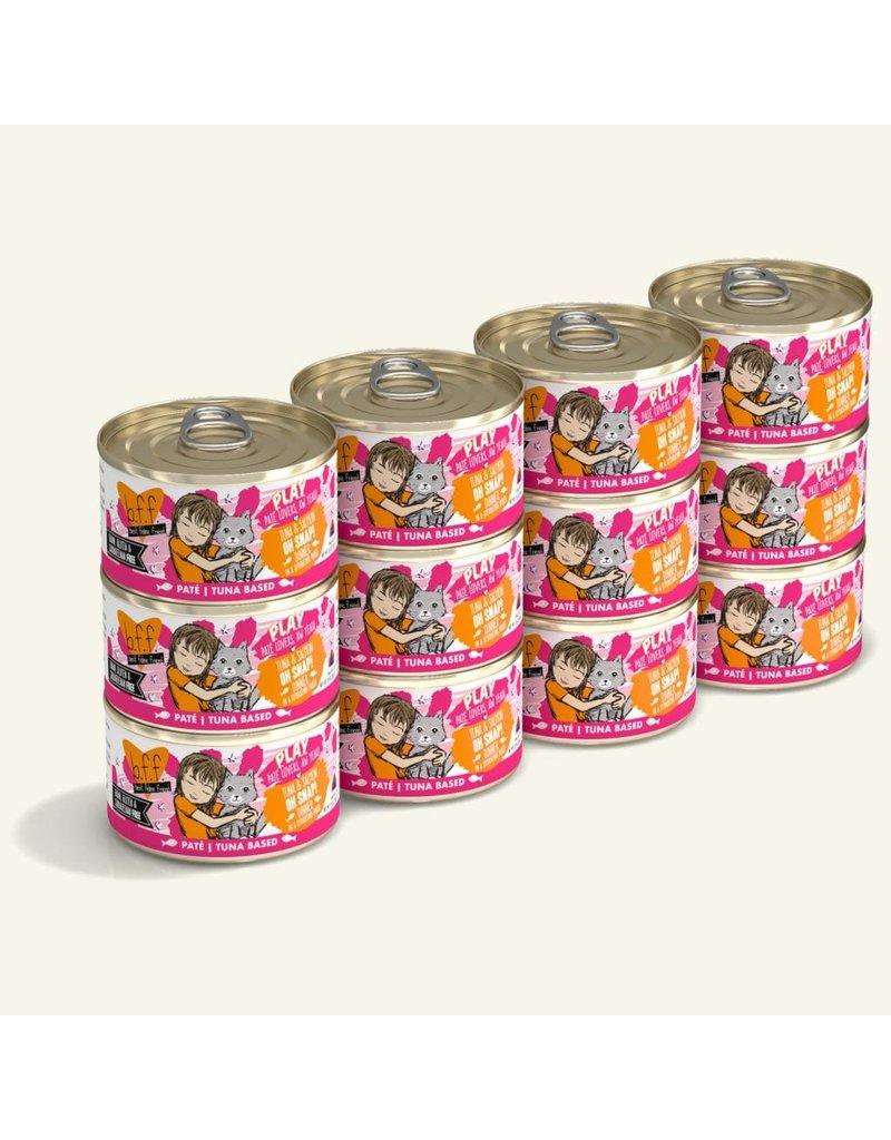 Weruva Best Feline Friend PLAY Land & Sea Pate | CASE Tuna & Salmon Oh Snap! Dinner in Puree 2.8 oz