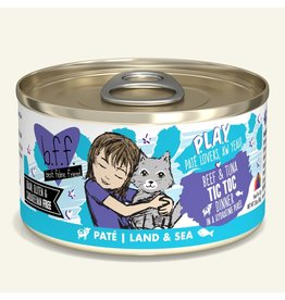 Weruva Weruva BFF PLAY Land & Sea Pate | Beef & Tuna Tic Toc Dinner in Puree 2.8 oz single