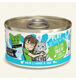 Weruva Best Feline Friend PLAY Land & Sea Pate | Lamb & Tuna Told Ya' Dinner in Puree 2.8 oz single