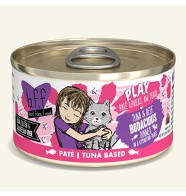 Weruva Best Feline Friend PLAY Land & Sea Pate | Tuna & Beef Bodacious Dinner in Puree 2.8 oz single