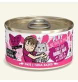 Weruva Best Feline Friend PLAY Land & Sea Pate | Tuna & Duck Double Dare Dinner in Puree 2.8 oz single