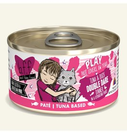 Weruva Best Feline Friend PLAY Land & Sea Pate | Tuna & Duck Double Dare Dinner in Puree 2.8 oz single
