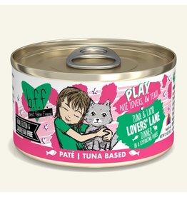 Weruva Best Feline Friend PLAY Land & Sea Pate | Tuna & Lamb Lovers' Lane Dinner in Puree 2.8 oz single