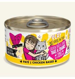 Weruva Best Feline Friend PLAY Land & Sea Pate | Chicken, Duck, & Turkey Take A Chance Dinner in Puree 2.8 oz single