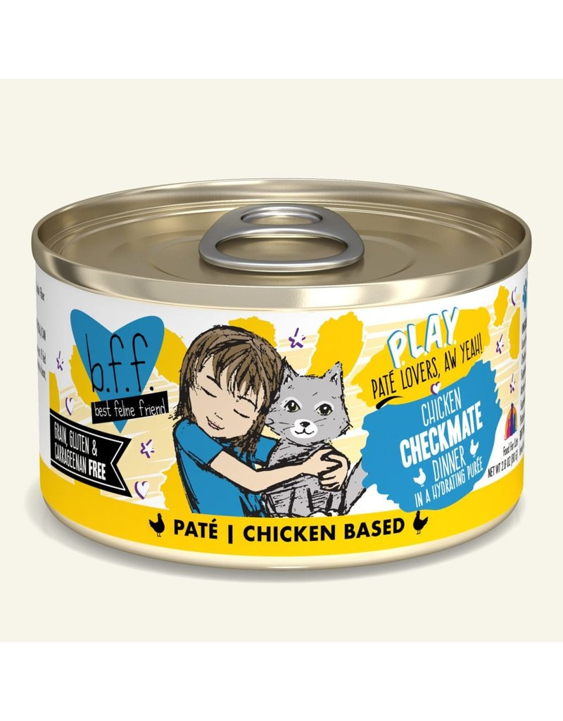 Weruva Best Feline Friend PLAY Land & Sea Pate   Chicken Checkmate Dinner in Puree 2.8 oz single