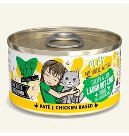 Weruva Best Feline Friend PLAY Land & Sea Pate |  Chicken & Lamb Laugh Out Loud Dinner in Puree 2.8 oz single