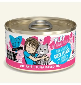 Weruva Best Feline Friend PLAY Land & Sea Pate |  Tuna & Chicken Check Please Dinner in Puree 2.8 oz single