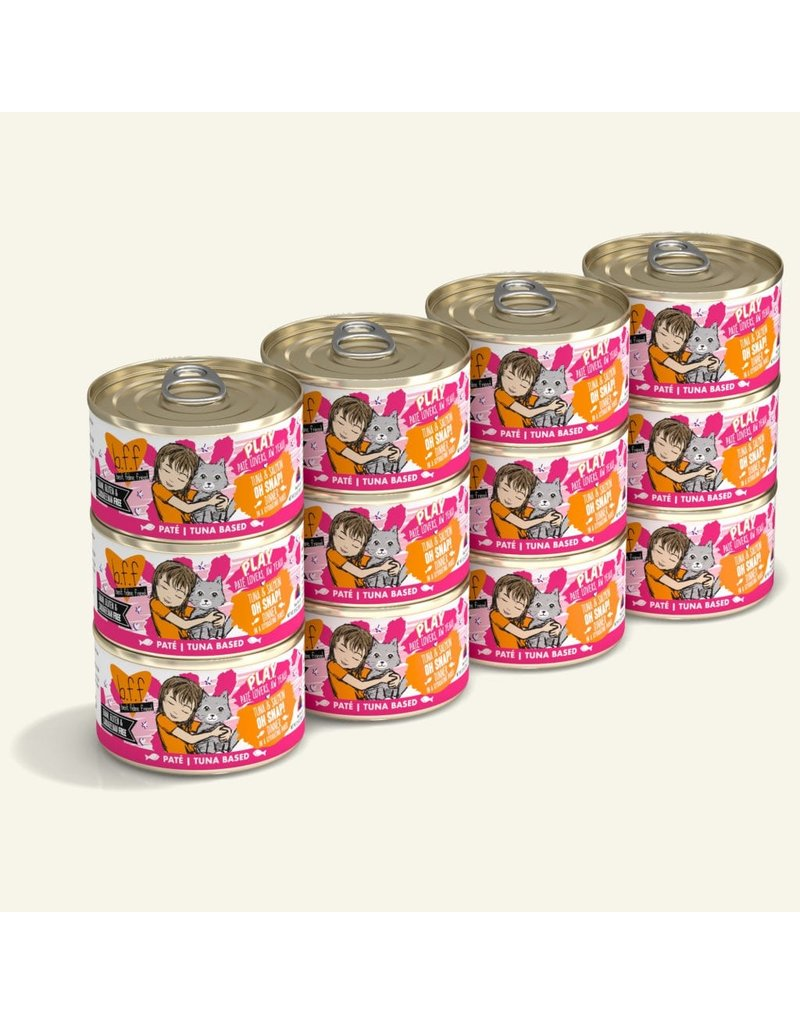 Weruva Best Feline Friend PLAY Land & Sea Pate | Tuna & Salmon Oh Snap Dinner in Puree 2.8 oz single