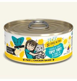 Weruva Best Feline Friend PLAY Chicken Based Pate   Chicken & Turkey Topsy Turvy Dinner in Puree 5.5 oz single
