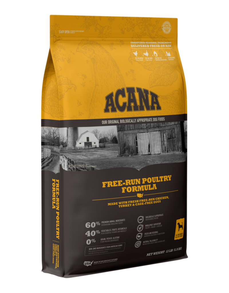 Champion Pet Foods Acana 60/40 Dog Kibble Free Run Poultry Formula 13 lb