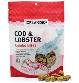 IcelandicPLUS Icelandic+ Dog Treats Cod & Lobster Combo Bites 3.52 oz