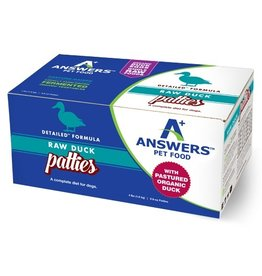 Answer's Pet Food Answers Frozen Dog Food Detailed Duck 8 oz Patties 4 lbs (*Frozen Products for Local Delivery or In-Store Pickup Only. *)