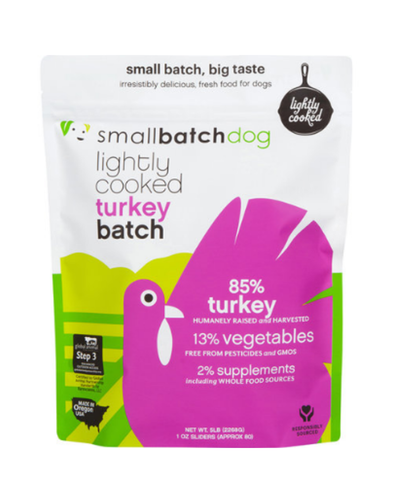 Smallbatch Pets Smallbatch Frozen Dog Food Lightly Cooked | Turkey 2 lbs (*Frozen Products for Local Delivery or In-Store Pickup Only. *)