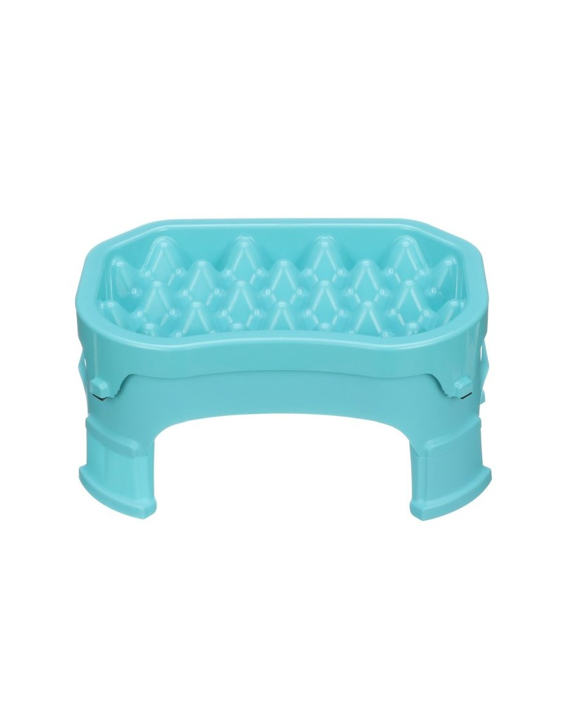 "Neater Pets Neater Pets Slow Feeder | 2.5 Cup Small Aquamarine 4.5"" height"