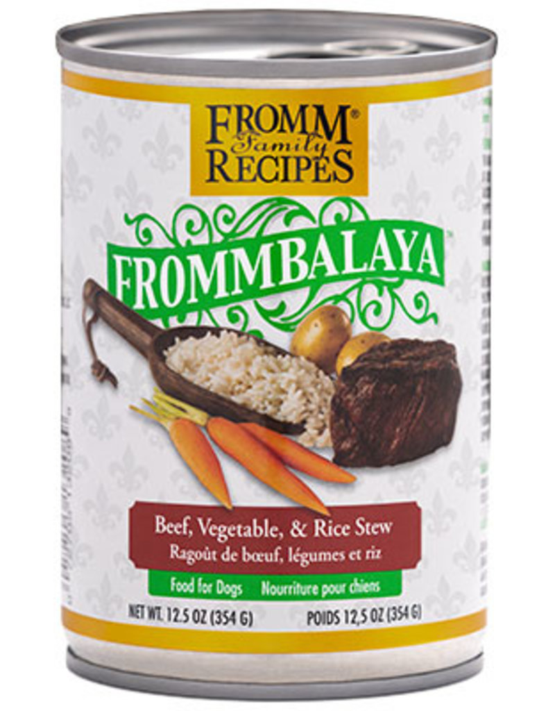 Fromm Fromm Canned Dog Food Frommbalaya Stew | Beef Vegetable & Rice 12.5 oz single