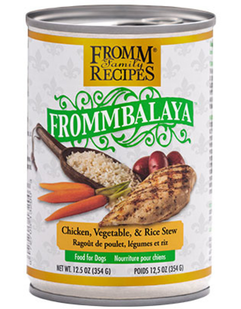 Fromm Fromm Canned Dog Food Frommbalaya Stew | Chicken Vegetable & Rice 12.5 oz single