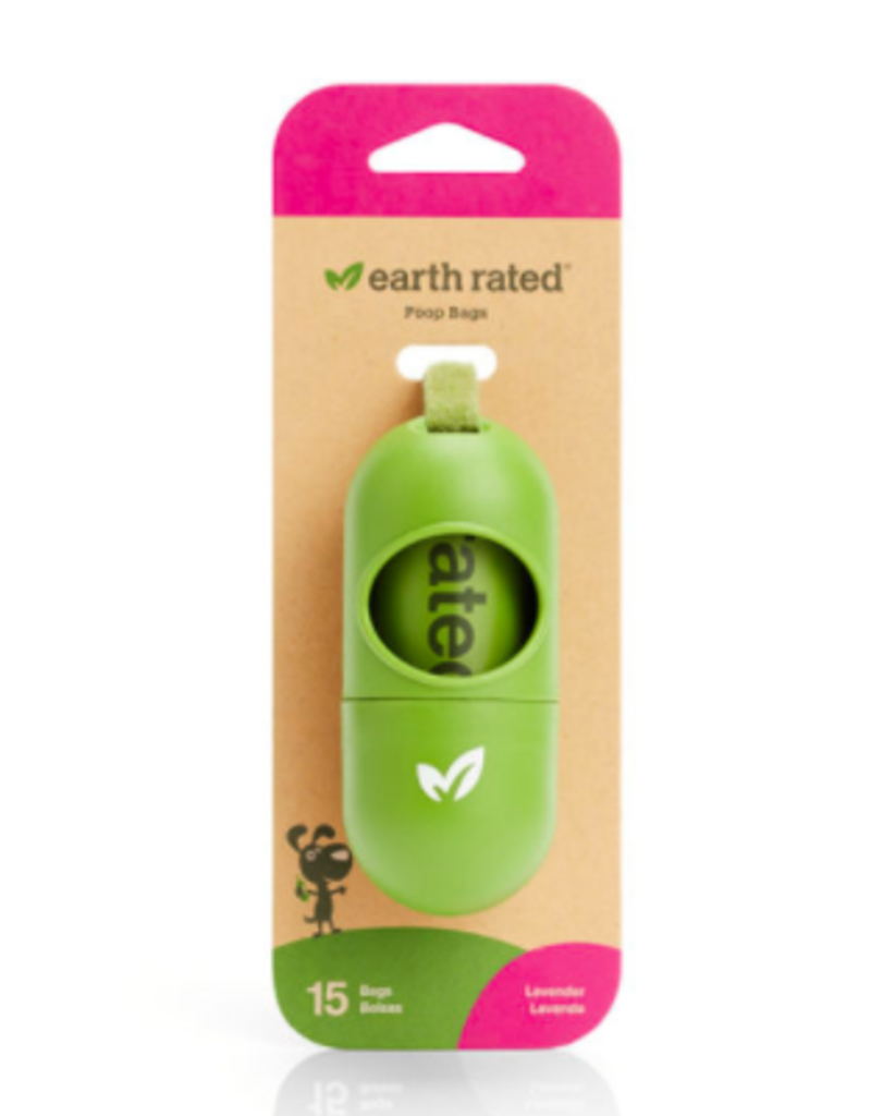 Earth Rated Earth Rated Poop Bags Lavender Scented with Dispenser 15 ct