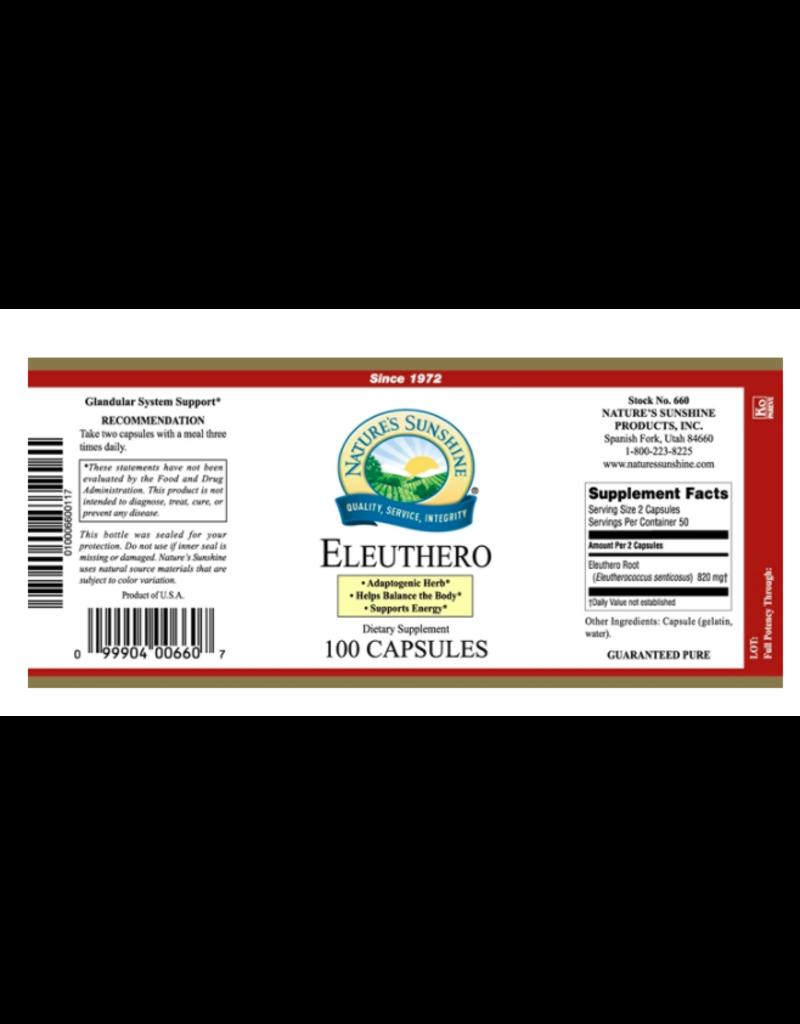 Nature's Sunshine Supplements Eleuthero 100 capsules