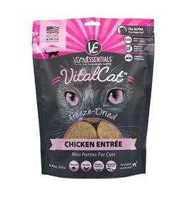 Vital Essentials Vital Essentials Cat Freeze Dried Food Mini Patties Chicken Entree 8 oz