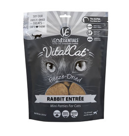 Vital Essentials Vital Essentials Cat Freeze Dried Food Mini Patties Rabbit Entree 8 oz
