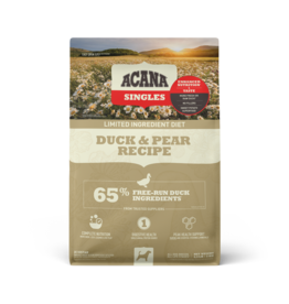 Champion Pet Foods Acana Singles Dog Kibble | Duck & Pear 4.5 lb