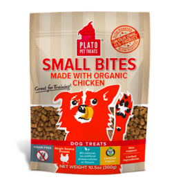 Plato Plato Dog Jerky Treats Small Bites Chicken 6 oz