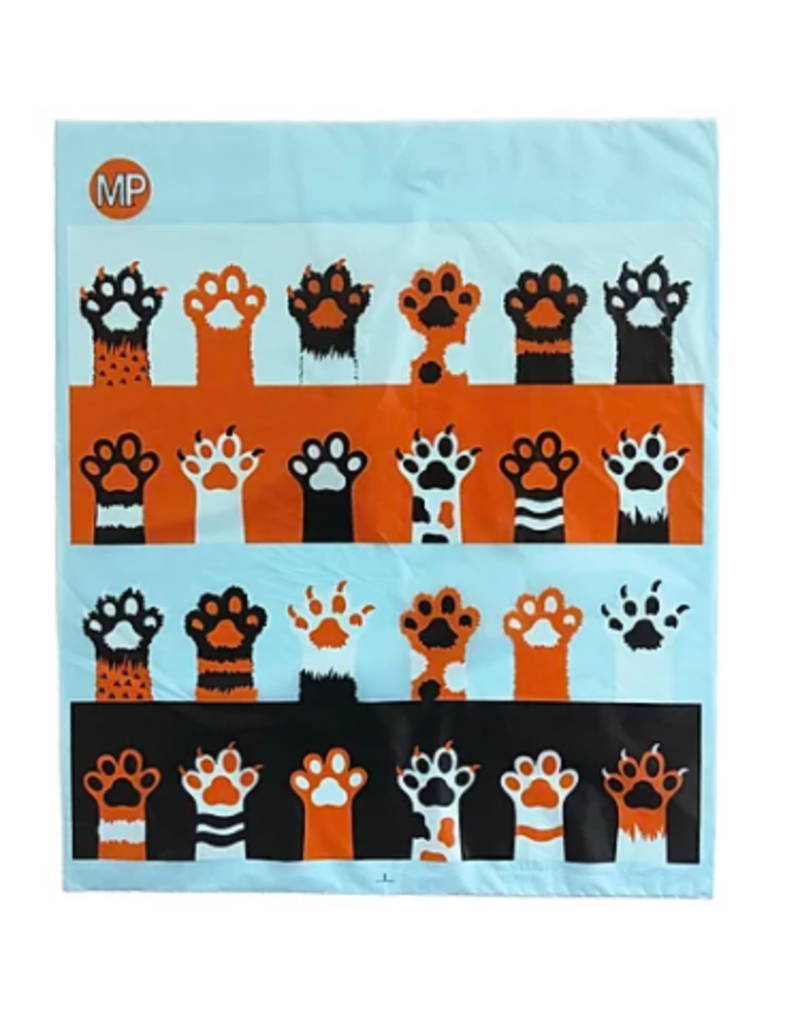 Metro Paws Poopy Packs for Cats Compostable Litter Bags Orange Claws Extra Large (XL) 250 ct
