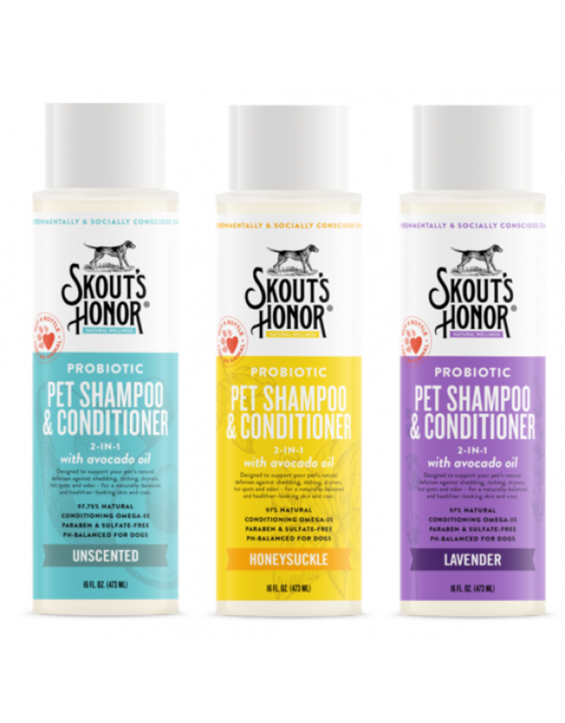 Skout's Honor Skout's Honor Probiotic Shampoo & Conditioner Unscented 16 oz