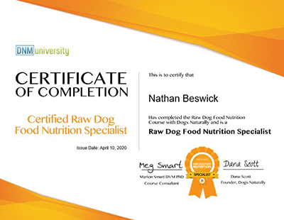 Beastro Team Member Nathan Beswick Talks About Raw Feeding Certification For Pets