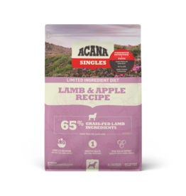 Champion Pet Foods Acana Singles Dog Kibble | Lamb & Apple 4.5 lb