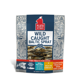 Plato Plato Dog Treats Wild Caught Baltic Sprat 3 oz
