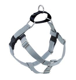 """2 hounds Design 2 Hounds Design Freedom No-Pull Harness 5/8"""" Small Silver"""