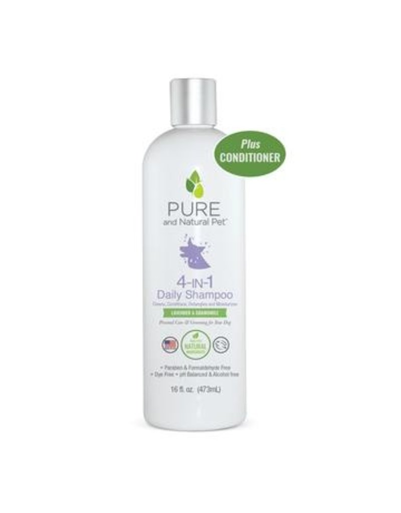 Pure and Naturals Pet Pure and Natural Pet | Daily 4 in 1 Shampoo for Dogs Lavender & Chamomile 16 oz