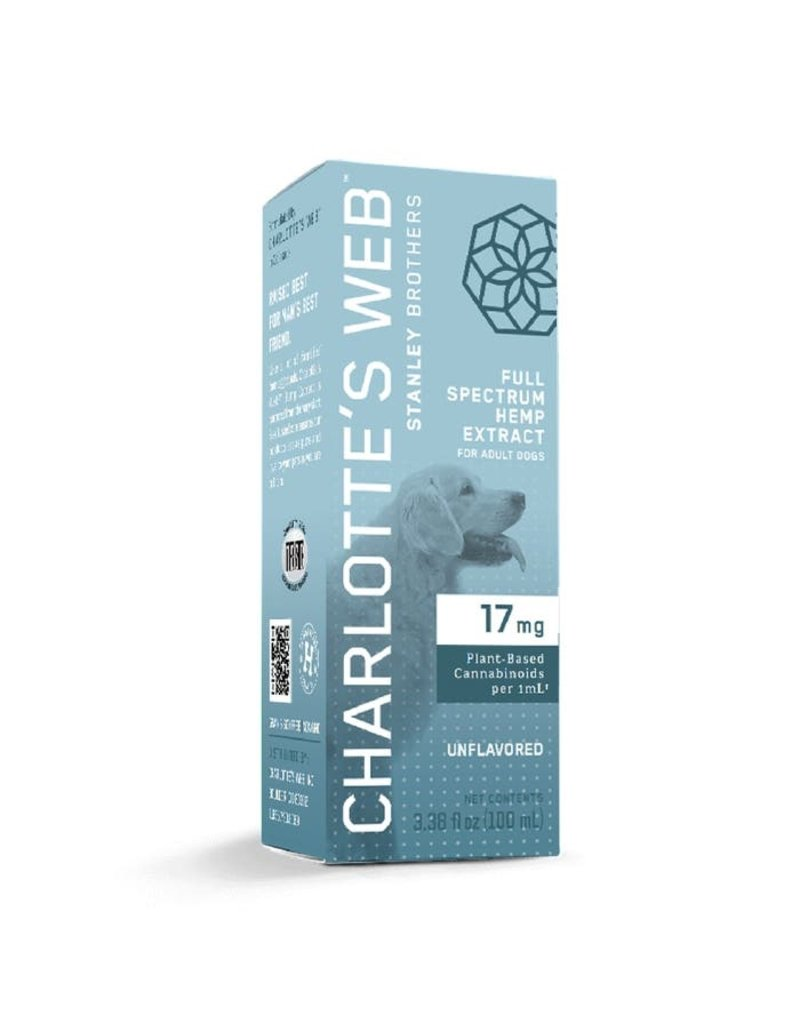 Charlotte's Web Charlotte's Web Hemp Oil | 17 mg Active CBD 30 mL Unflavored for Dogs
