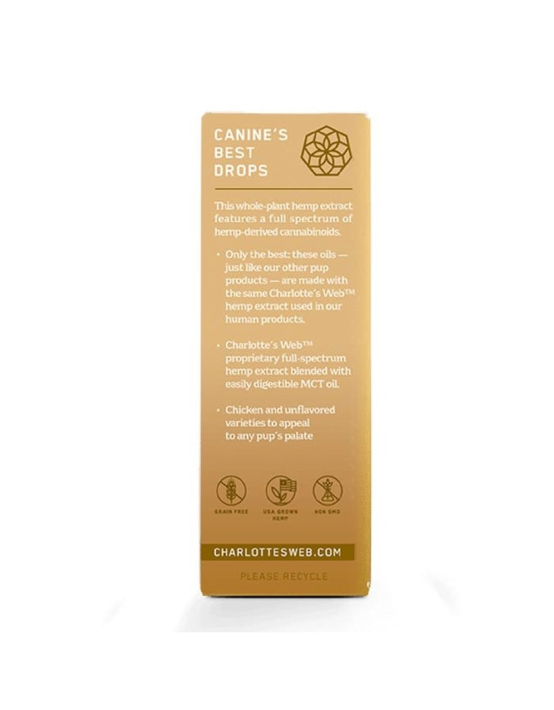 Charlotte's Web Charlotte's Web Hemp Oil | 7 mg Active CBD 30 mL Chicken Flavor for Dogs
